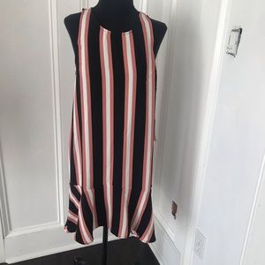 Leith striped black, rose and white dress size sm